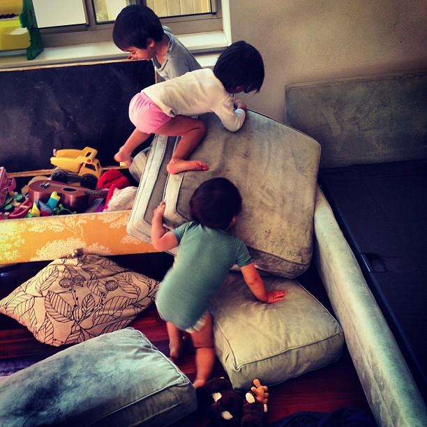 Kids messing around